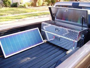 Solar panel charging batteries