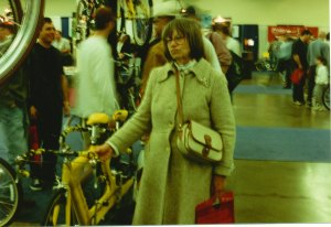 Barb at Seattle Bike Show 1998