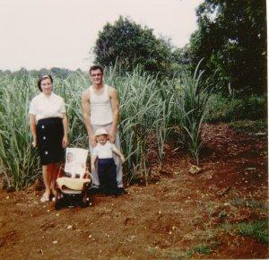 Barb, Scott, Sophia, & Evie in Puerto Rico 1964