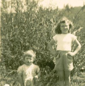 Carolyn & Barb about 1945