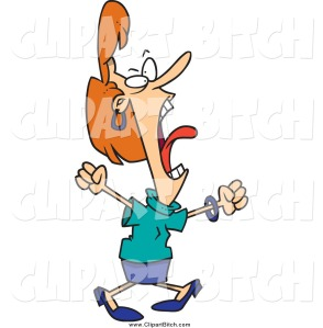 clip-vector-cartoon-art-of-a-mad-screaming-business-woman-by-ron-leishman-378